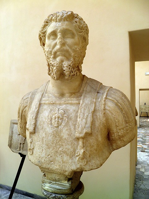Septimius Severus, from the cemetery of Portus on the Isola Sacra, 3rd century AD, Ostia Antica, Italy