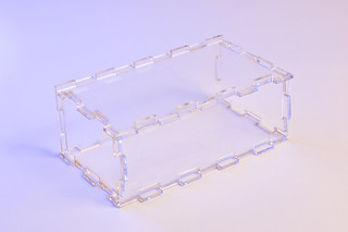 Comb-Jointed Box in Clear Acrylic