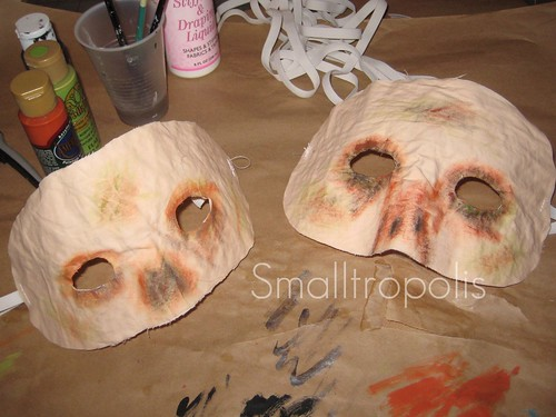 Make your own zombie masks
