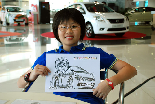 Caricature live sketching for Tan Chong Nissan Motor Almera Soft Launch - Day 3 - 6