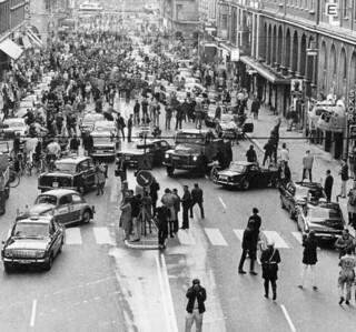 El día que los coches cambiaron de sentido de circulación (Estocolmo, 1967)
