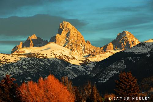 sunset mountains landscape webcam idaho wyoming grandtetons tetons f12 jamesneeley idahoside tetoncam