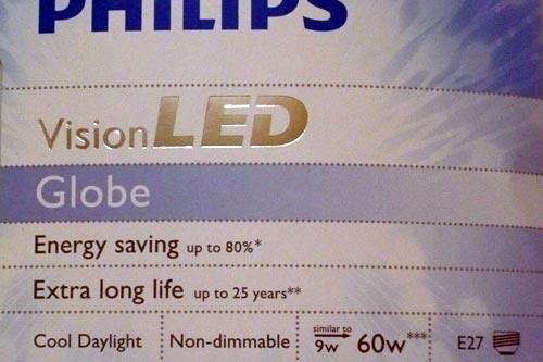 Spesifikasi lampu LED