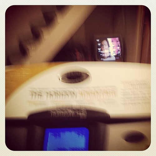 My treadmill and I were just set up on our first date of 2012, by my husband. Love it.