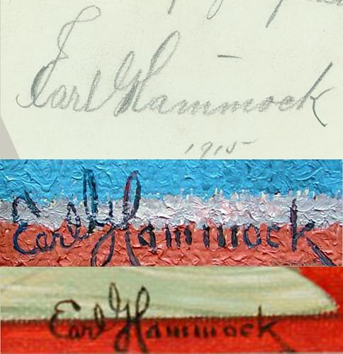 Earl G Hammock signature comparison