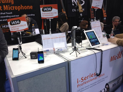 NAMM 2012 - i-Series Professional Mics for Apple products from Mic W