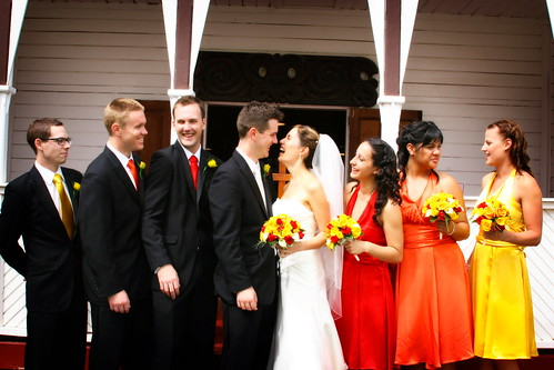 The Bridal Party in front of the marae