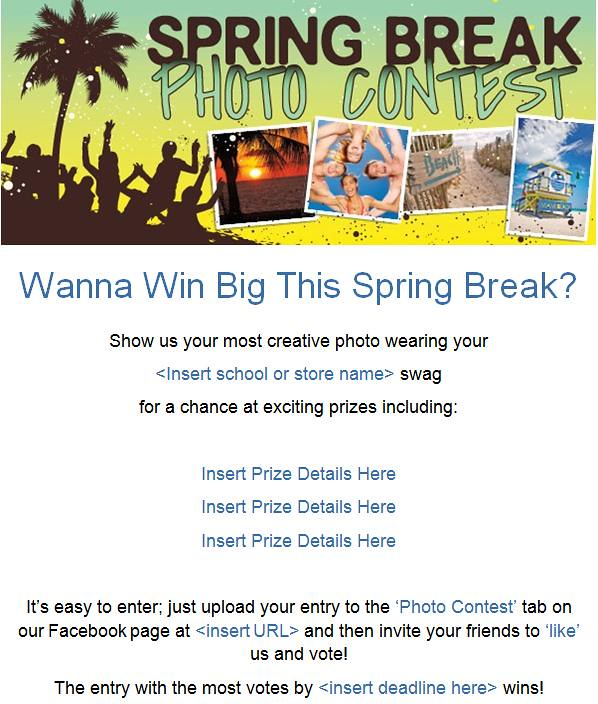 MBS Foreword Online - Spring Break Photo Contest - February Marketing Plan