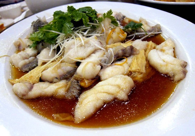 Steamed Giant Century Garoupa with Beancurd Skin in Soya Sauce