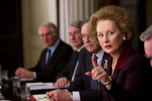 "Meryl Streep playing Margaret Thatcher in ""The Iron Lady"""