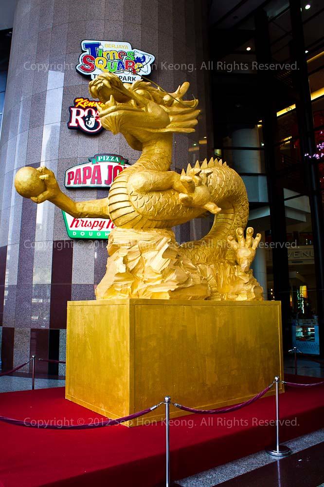 CNY decoration @ Berjaya Times Square, KL, Malaysia