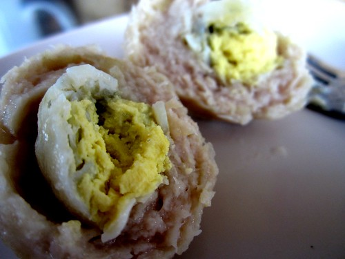 Quail egg meat ball inside