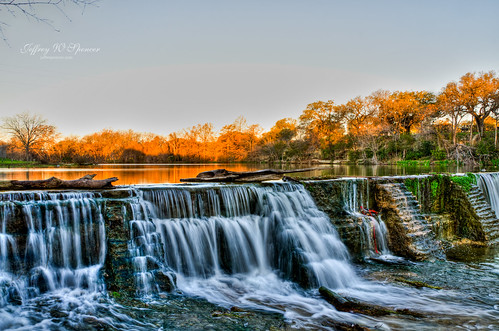 morning landscape waterfall texas veteranspark nikond7000hdrroundrock