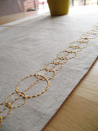 Golden Circles Table Runner_3