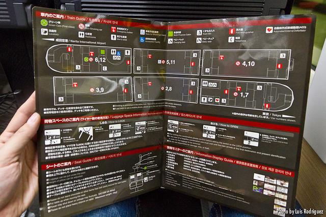 Guía del Narita Express, con todos los servicios a bordo.