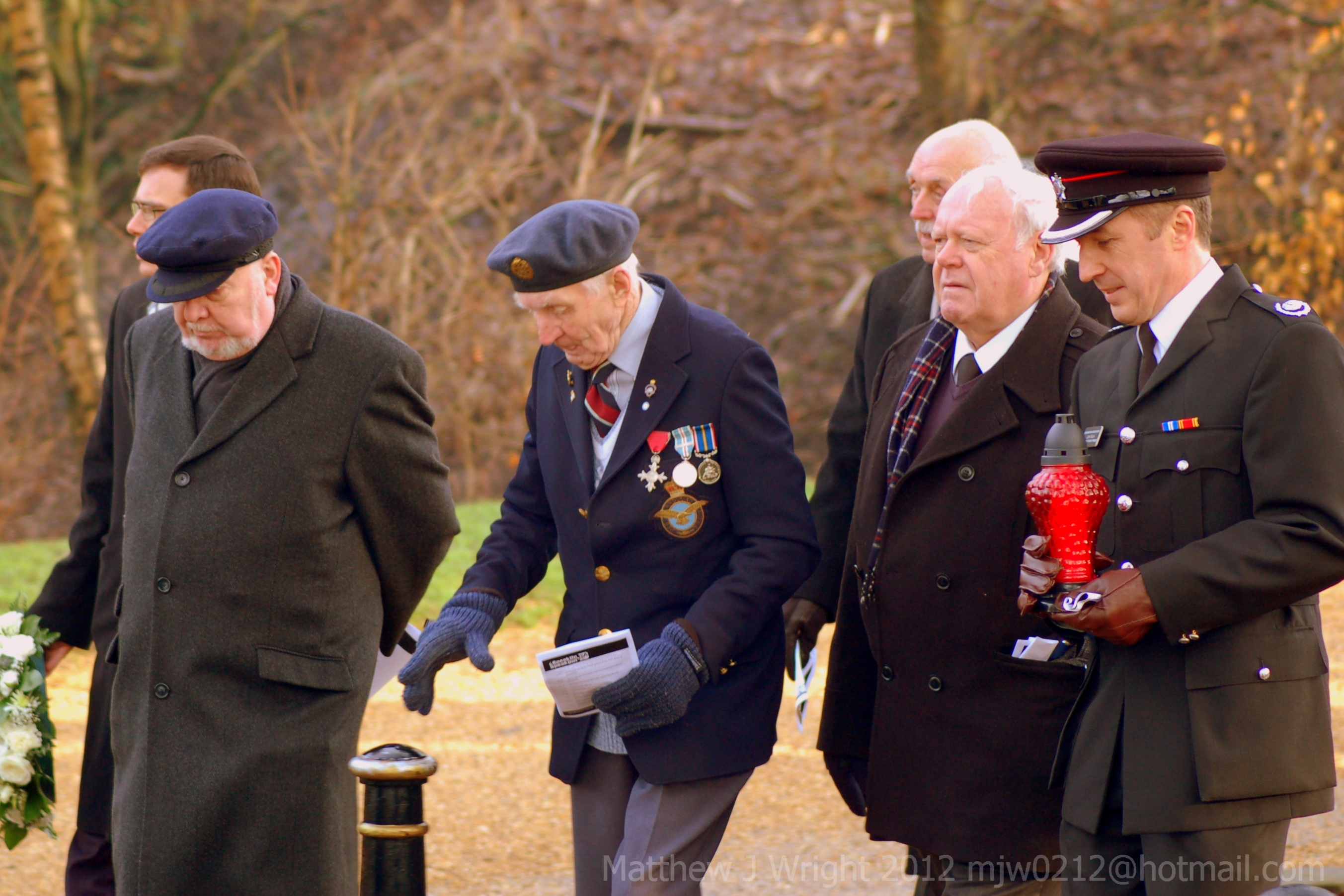 Holocaust Memorial Day 2012 service at The Cenotaph Astley