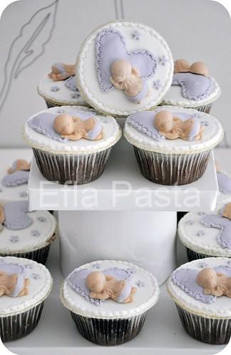 Kalpte Uyuyan bebek cupcake 3