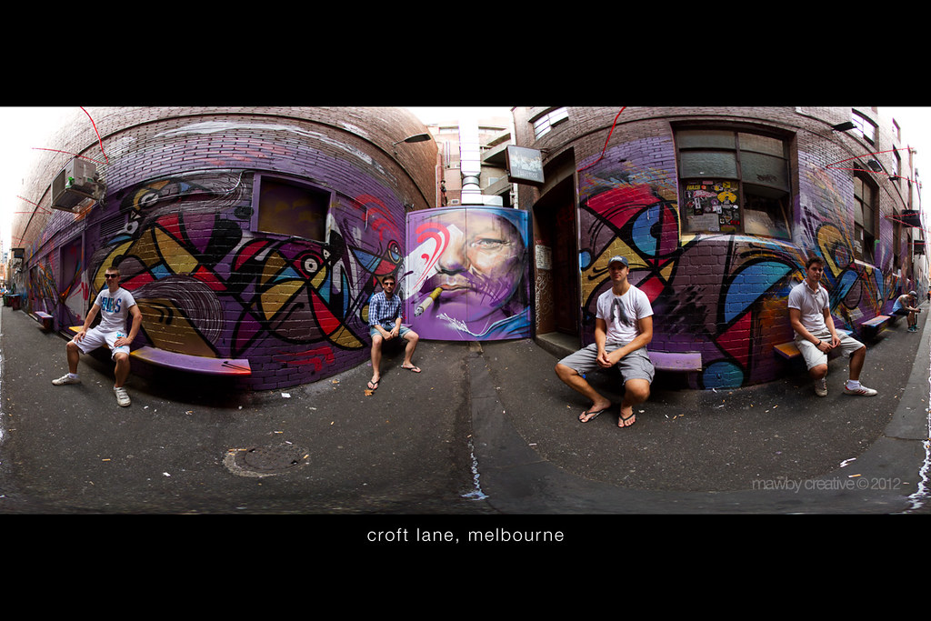 Croft Lane, Melbourne - Panoramic Portrait