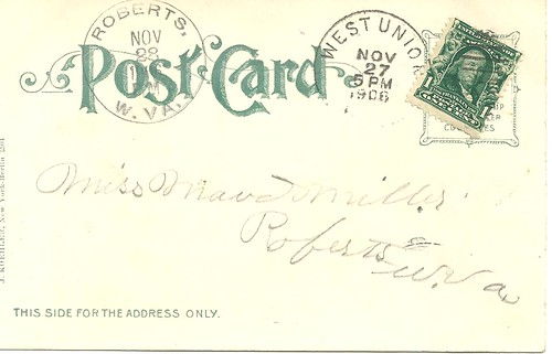 NYC Postcard - New York Post Office (Reverse)
