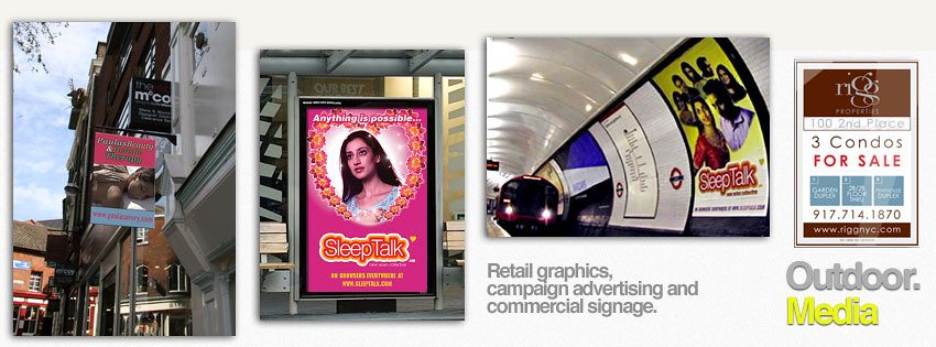Outdoor Media, advertising + large print