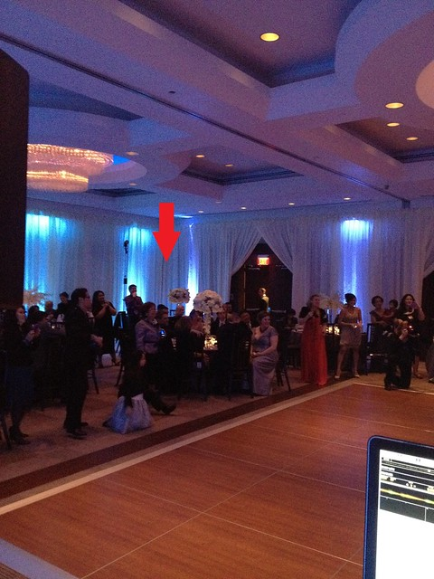 Park Hyatt Washington, DC , wedding DJ set up - Chris Laich Music Services