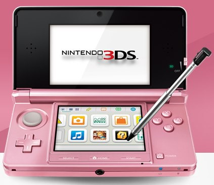 that on February 10, the company will release a new pink Nintendo 3DS