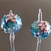 Earring pair : Diamond flower