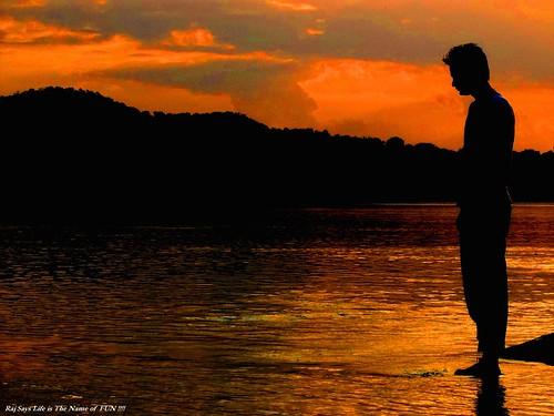 water silhouette river flickr rituraj flickrduel rajsays