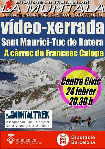 Vídeo-xerrada: Sant Maurici-Tuc de Ratera @ Centre Cívic 24 febrer 20.30 h by bibliotecalamuntala