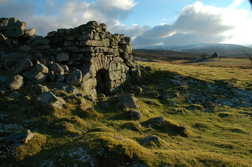 Ruin at Fae with Geal Charn in the background