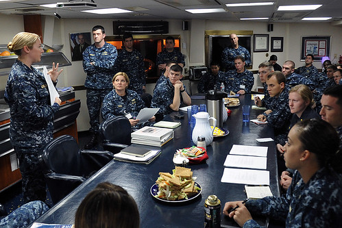USS Higgins (DDG 76) held a job fair for the first time for junior officers.