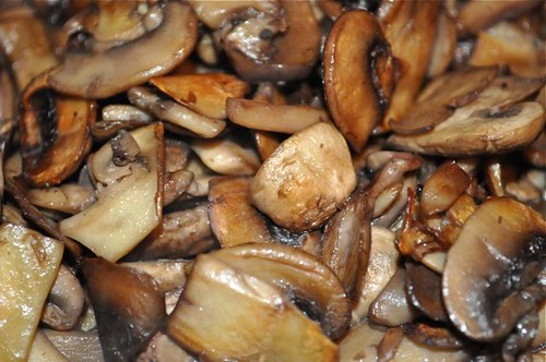 mushrooms sautéed with a splash of red wine 13