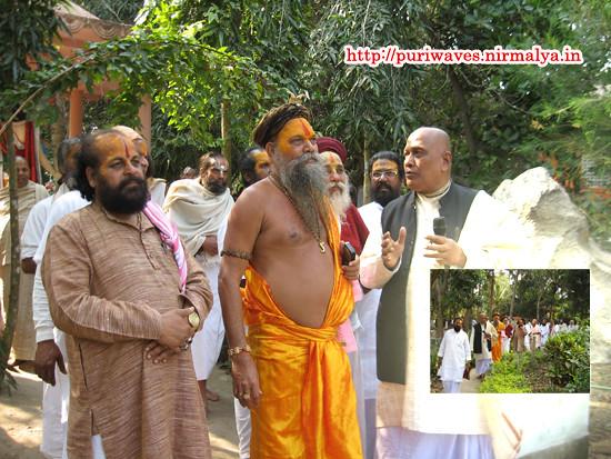 Sri Madhabacharya Moharaj visited The Gour Vihar Monastery