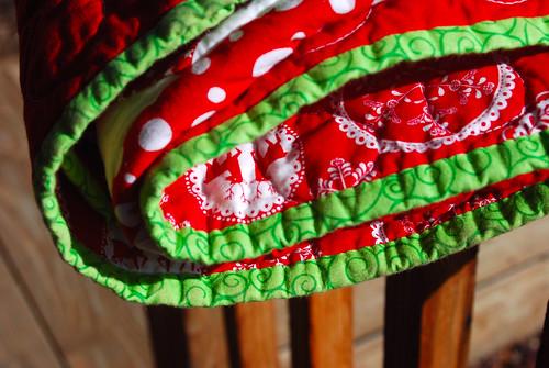 Christmas Quilt Folded