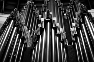 Image of  St. Hedwig's Cathedral  near  Mitte. berlin church cathedral pipes organ grayscale sthedwig hedwigskirche