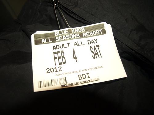 Blue Knob lift ticket