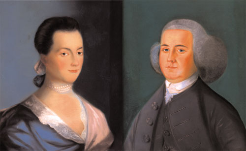 Portrait of Abigail Adams, and Portrait of John Adams