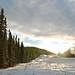 Small photo of Sunset along Alaska Highway