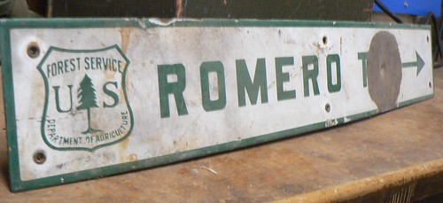 Romero Trail Sign