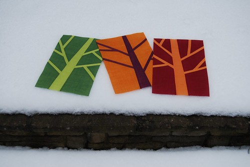 Winter trees in the snow by Lynne @ Lilys Quilts