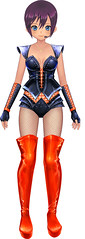 figurine(0.0), adult(0.0), toy(0.0), latex clothing(1.0), clothing(1.0), costume(1.0), cartoon(1.0), action figure(1.0),