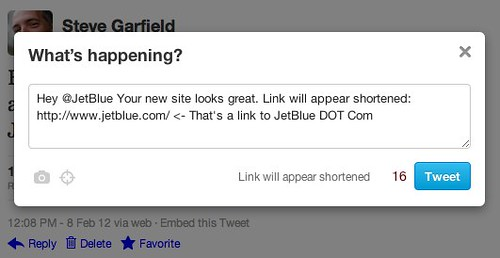Twitter _ @stevegarfield: Link will appear shortened NOT by stevegarfield