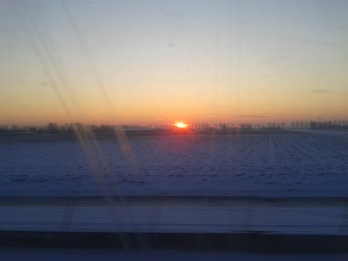 Sunrise From The Train