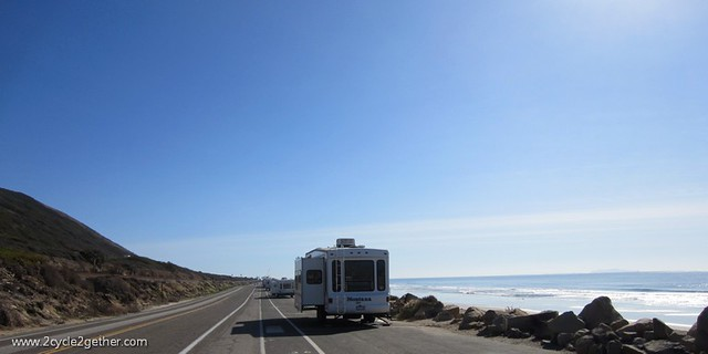 Miles of RV campers