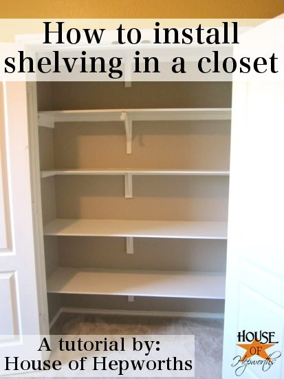 how to install shelves in a closet. Black Bedroom Furniture Sets. Home Design Ideas