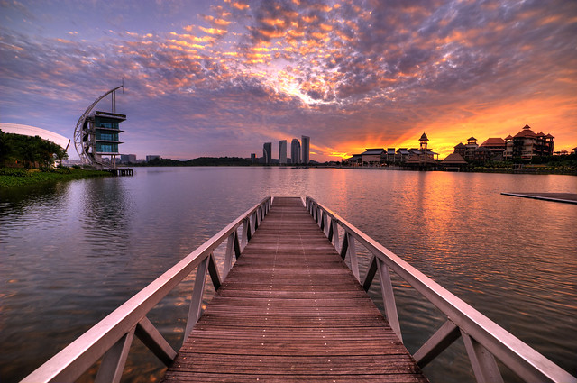 Sunrise over Putrajaya Lake