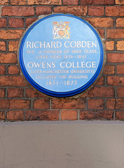 Photo of Richard Cobden blue plaque
