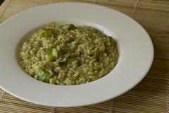 Risotto with avocado and rum