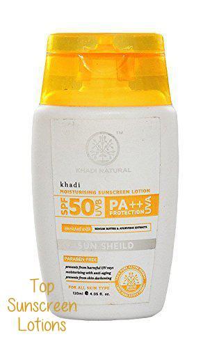 Best Sunscreen Lotion in India #7 - Khadi Moisturising Sunscreen Lotion - SPF 50 Pa++ (2)