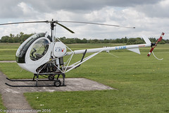 G-CEBE - 2006 build Schweizer 269C-1, visiting Barton